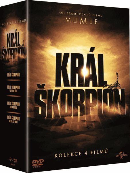 DVD Král Škorpion - Kolekce 4 filmů - Chuck Russell, Russell Mulcahy, Roel Reiné, Mike Elliott - 13x19 cm