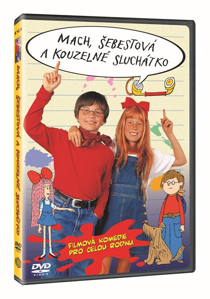 DVD Mach, Šebestová a kouzelné sluchátko - Václav Vorlíček - 13x19 cm