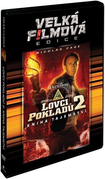 DVD Lovci pokladů 2: Kniha tajemství - Jon Turteltaub - 13x19 cm