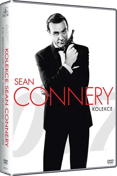 James Bond - kolekce Sean Connery na 6 DVD - Terence Young, Lewis Gilbert, Guy Hamilton - 13x19 cm