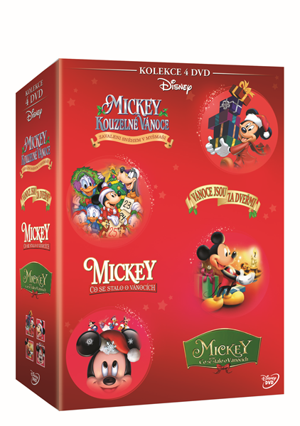 Mickey Vánoční kolekce 4 DVD - 13x19 cm
