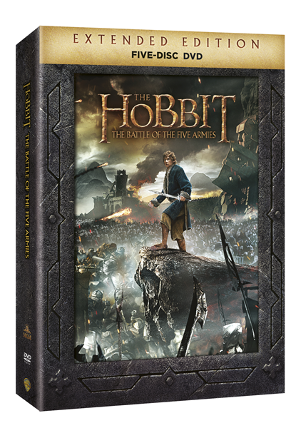 DVD Hobit: Bitva pěti armád - prodloužená verze - Peter Jackson - 13x19 cm