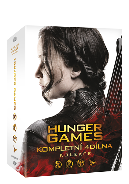 Hunger Games kolekce 4 DVD - 13x19 cm