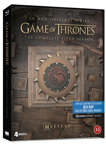 Hra o trůny 5. série 4BD Blu-ray - steelbook