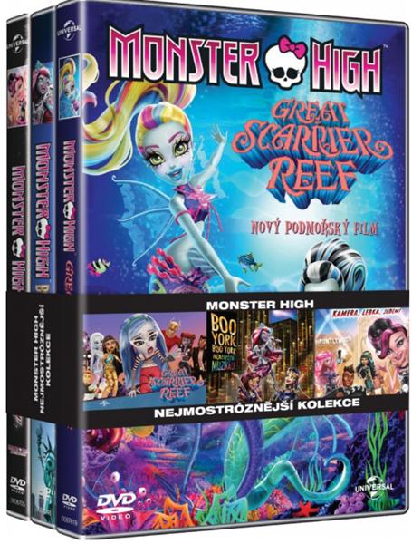 Monster High: Nejmonstroznější kolekce 3 DVD