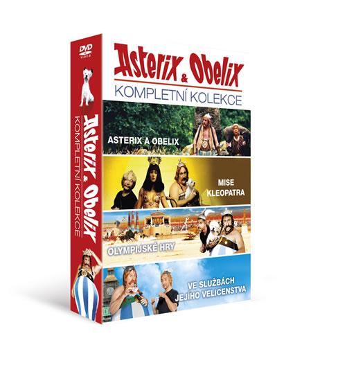 DVD Asterix a Obelix kolekce 4 DVD - neuveden - 13x19 cm
