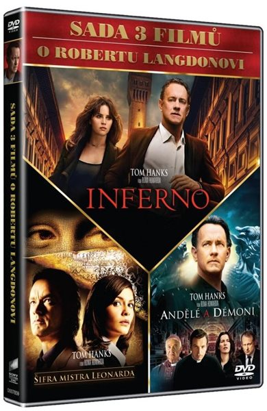 Dan Brown kolekce 3 DVD - Ron Howard