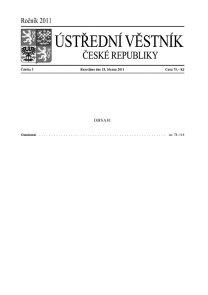 Ústřední věstník ČR 003/2011