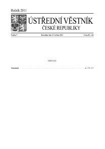 Ústřední věstník ČR 007/2011