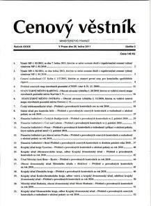 Cenový věstník MF ČR 002/2011