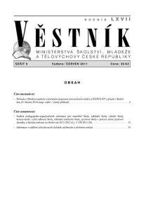 Věstník MŠMT ČR 006/2011
