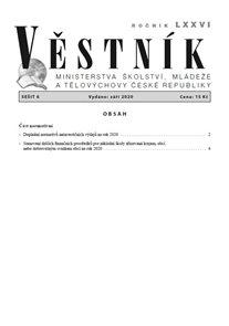 Věstník MŠMT ČR 2020/006