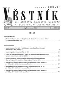 Věstník MŠMT ČR 2021/001