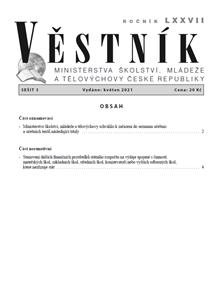 Věstník MŠMT ČR 2021/003