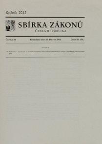 Sbírka zákonů 036/2012