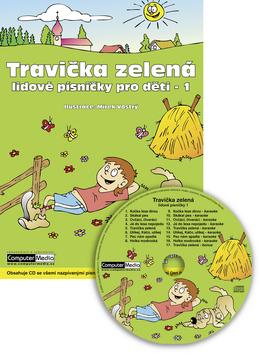 Travička zelená - lidové písničky pro děti 1 + audio CD - 189x259 mm, lepená