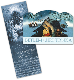 Betlém Jiří Trnka skládací + Vánoční koledy s notami - Trnka Jiří - 12x34