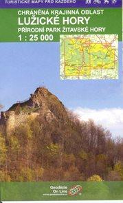 Lužické hory - mapa 1: 25 000