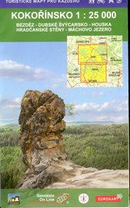 KOKOŘÍNSKO turistická mapa 1:25 000