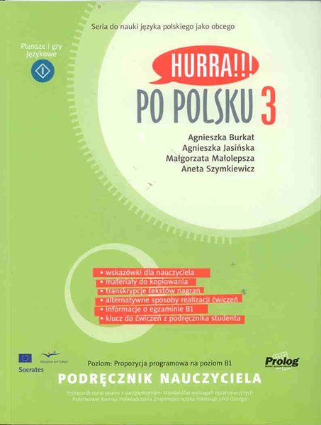 Hurra !!! Po polsku 3 - kniha pro učitele - Burkat, Jasinska, Malolepsza, Szymkiewic - A4, brožovaná
