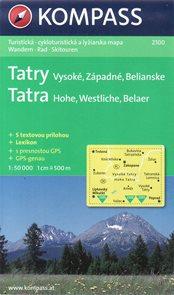 Tatry - Vysoké, Západné, Belianské - mapa Kompass2100 - 1:50t