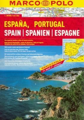 Španělsko, Portugalsko - atuoatlas MarcoPolo - 1:300t - A4, 368 stran, spirálová vazba