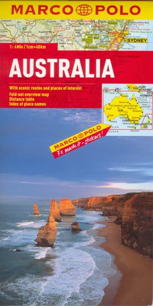 Austrálie - mapa Marco Polo - 1:4 000 000