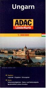 Maďarsko - mapa ADAC - 1:300 000