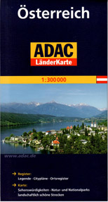 Rakousko - mapa ADAC - 1:300 000