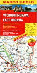 Česká republika -3- východní Morava, západní Slovensko - mapa Marco Polo - 1:200 000
