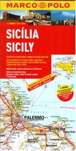 Itálie 14- Sicílie -mapa Marco Polo - 1:200 000