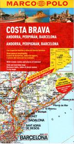 Španělsko - Costa Brava, Andorra - mapa Marco Polo - 1:200 000