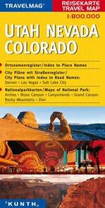 USA - Utah, Nevada, Colorado - mapa Kunth - 1:800 000