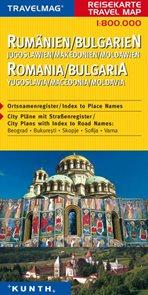 Rumunsko, Bulharsko, Jugoslávie, Makedónie, Moldávie - mapa Kunth - 1:800t.
