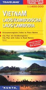 Vietnam, Laos, Kambodža - mapa Kunth - 1:1,4mil.