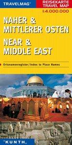 Blízký a střední východ - mapa Kunth - 1:4mil.