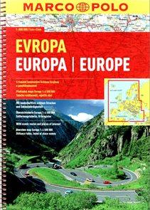 Evropa - autoatlas Marco Polo - 1:800 000 - spirálová vazba