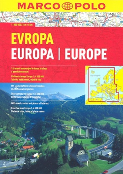 Evropa 1:800 000 - 21x30