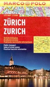 Zürich - městský kapesní plán 1: 15 tis.