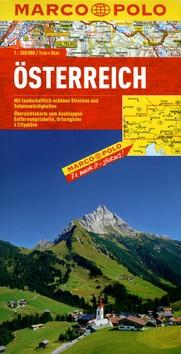 Rakousko mapa 1:300 tis. MD - 13x25