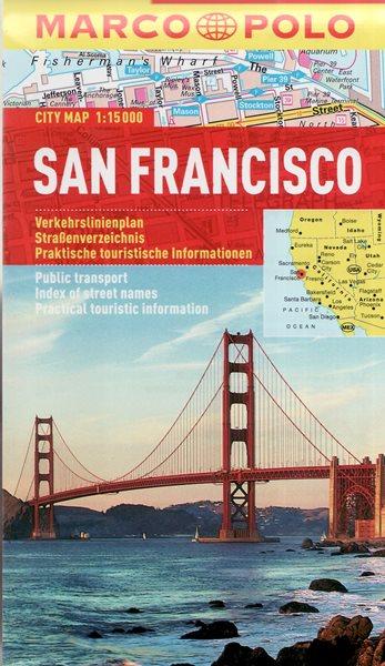 San Francisco - kapesní městský plán 1:15 tis. - 10x17