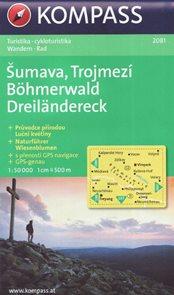 Šumava, Trojmezí 1: 50 000 mapa Kompass