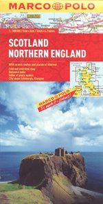 Skotsko, Anglie - sever mapa 1: 300 000
