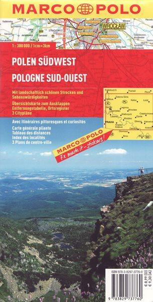 Polsko jihozápad mapa Marco Polo 1: 300 000 - 13x25