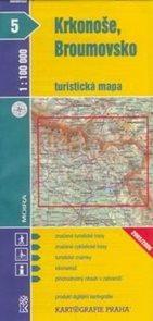 Krkonoše, Broumovsko - mapa KP č.5 - 1:100t