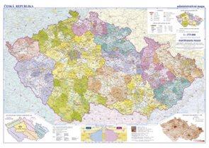 Česká republika -školní- administrativní - nástěnná mapa - 1:375 000
