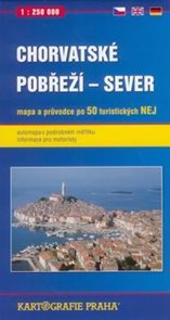 Chorvatské pobřeží -sever- mapa a průvodce - 1:250 000t