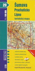 Šumava - Prachaticko, Lipno - mapa KP20 - 1:100t