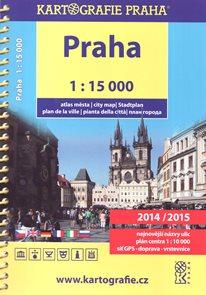 Praha - atlas 1:15 000 - Kartografie Praha 2014/2015