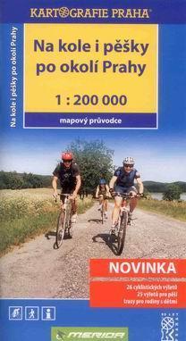 Na kole i pěšky po okolí Prahy - mapový průvodce - Kartografie - 122x230mm + mapa, plastové pouzdro